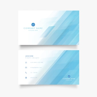 Modern visiting card with clean design