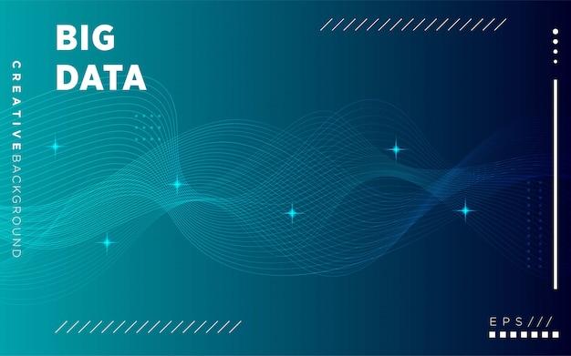 Modern  visualization tech poster. glow digital particles. big data concept.