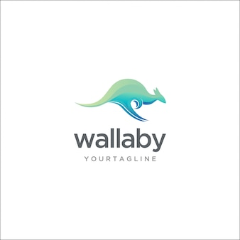 Modern wallaby logo