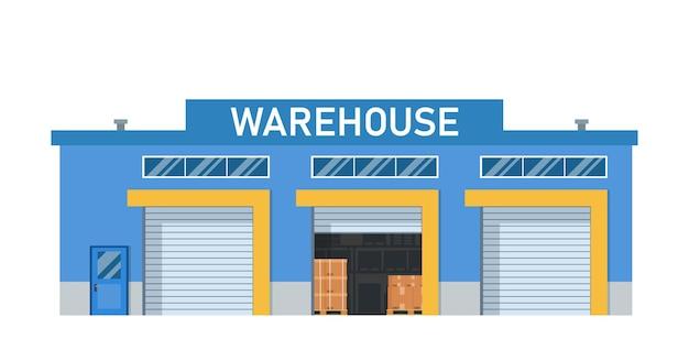 Modern warehouse building loading docks.