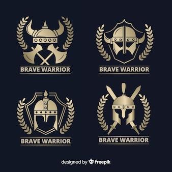 Modern warrior sports logo collection