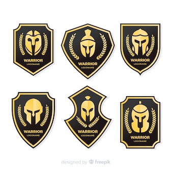 Modern warrior sports logo collection