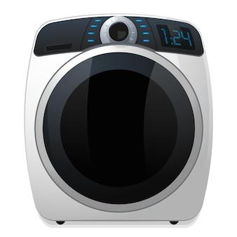 Современная стиральная машина значок реалистичные векторные иллюстрации