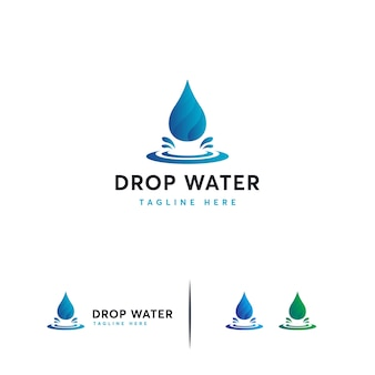 Modern water drop logo