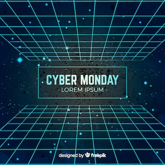 Modern watercolor cyber monday composition
