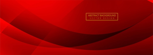 Modern wave banner red background