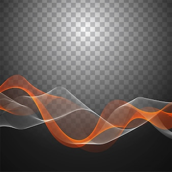Modern wave transparent background