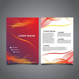 Modern wavy a5 brochure