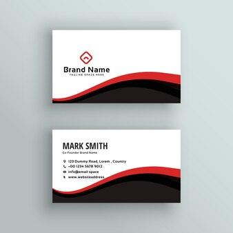 현대 물결 모양의 비즈니스 카드 디자인
