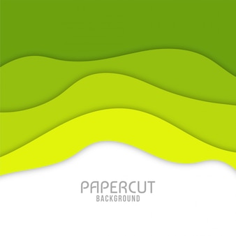 Modern wavy paper cut background design