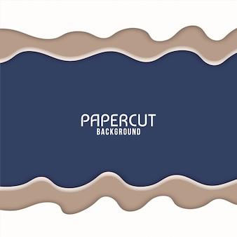 Modern wavy paper cut background