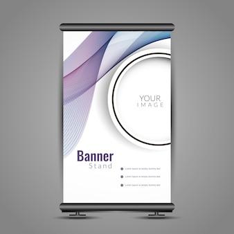 Modern wavy roll up banner design