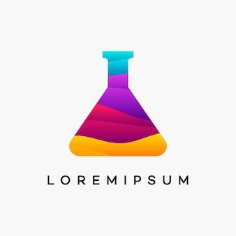 Modern wavy science logo designs concept vector, laboratory logo designs template