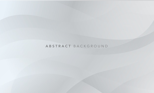 Modern wavy white grey abstract background