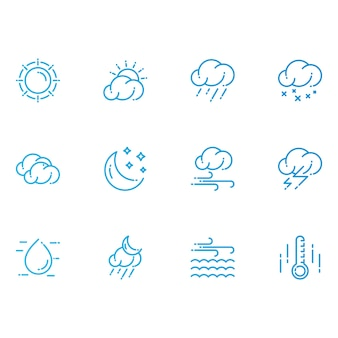 Modern weather icons