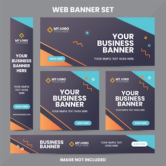 Modern web banner ad set template