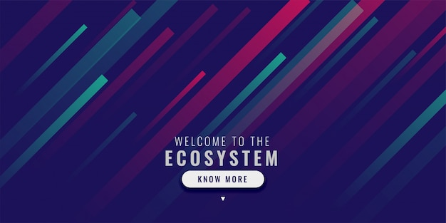 Modern web banner with color lines effect