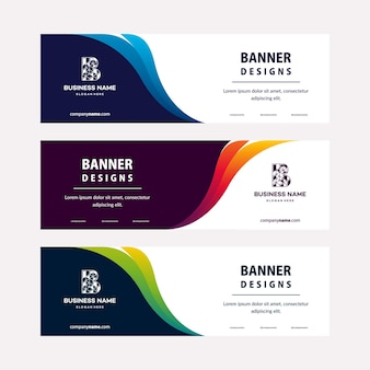 Современный шаблон веб-баннеров с диагональными элементами для фото. универсальный дизайн для рекламного бизнеса