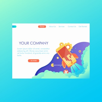 Modern web design concept of game and apps development