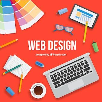 평면 디자인으로 현대적인 웹 디자인 컨셉