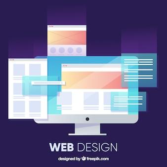 フラットデザインの最新のwebデザインコンセプト