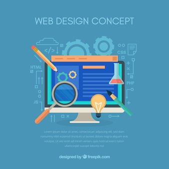 Modern web design concept with flat design