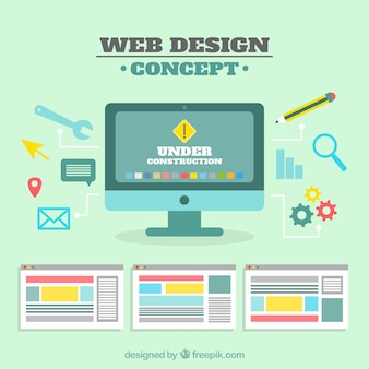 Modern web design concept with flat design
