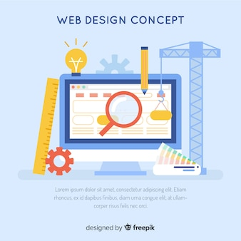 Modern web design concept with flat style