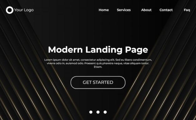 Modern website landing page