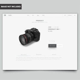 Modern website product page template