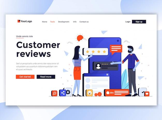 Modern  of website template - customer reviews