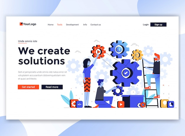 Modern  of website template - we create solutions