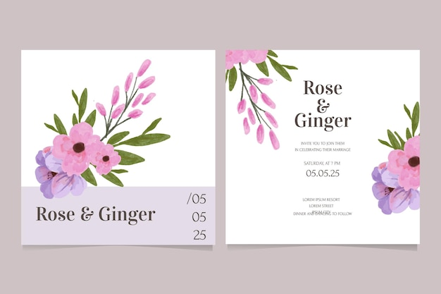 Modern wedding invitation card