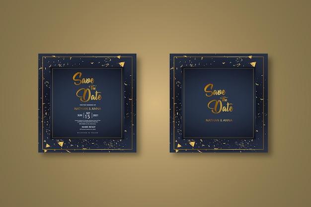 현대 결혼식 초대 카드 세트 디자인