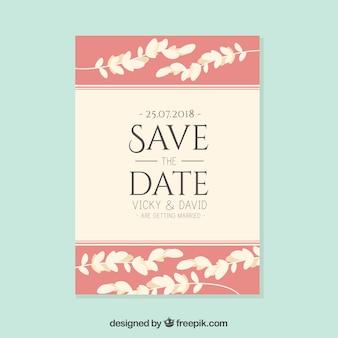 Modern wedding invitation with elegant style