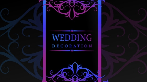Modern wedding ornament with floral