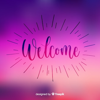 Modern welcome composition with gradient style