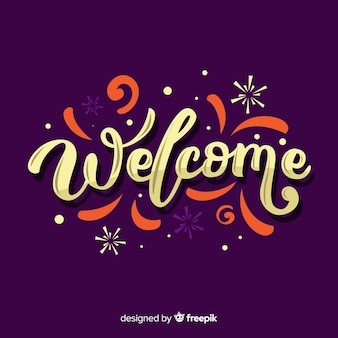 Modern welcome lettering design