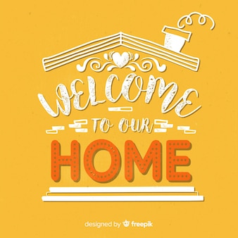 Modern welcome lettering design