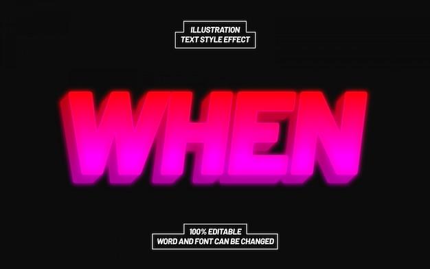 Современный, когда фиолетовый эффект стиля текста