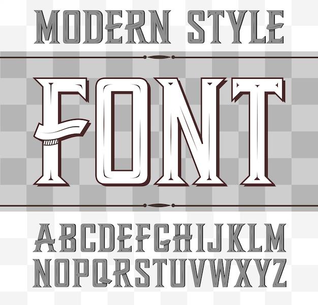 Modern whiskey style font