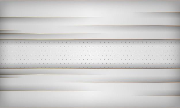 金色の線でモダンな白い抽象的な背景