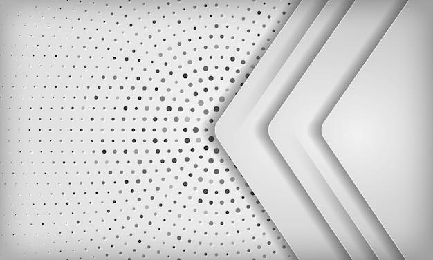 Современная белая абстрактная предпосылка с слоем перекрытия на текстуре полутонового изображения круга.