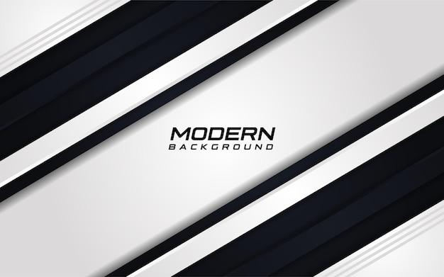 黒の動的な線の形とモダンな白い背景ベクトルイラストデザインテンプレート要素