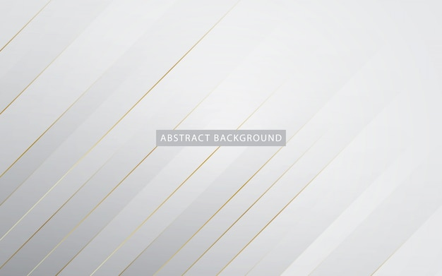 Modern white background with golden list effect