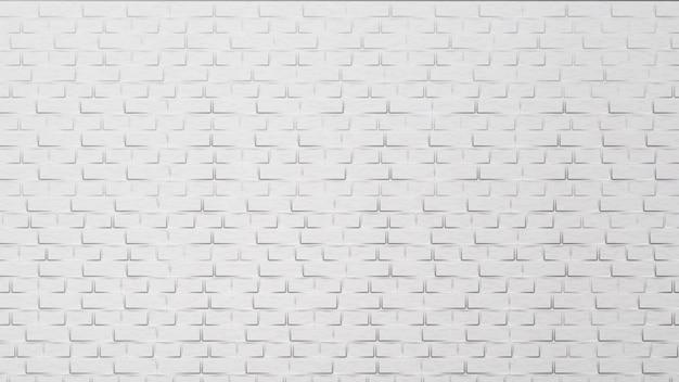 Modern white brick wall building element