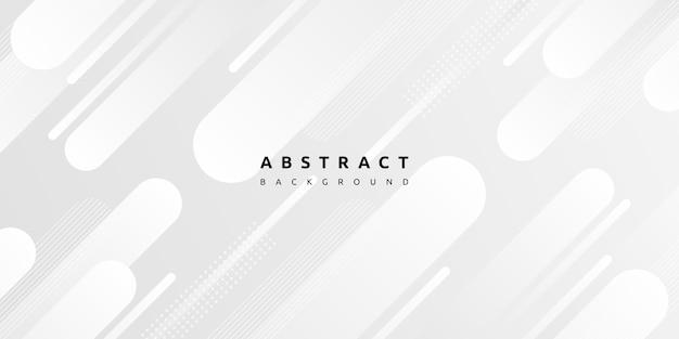 Modern white geometric shape on grey background