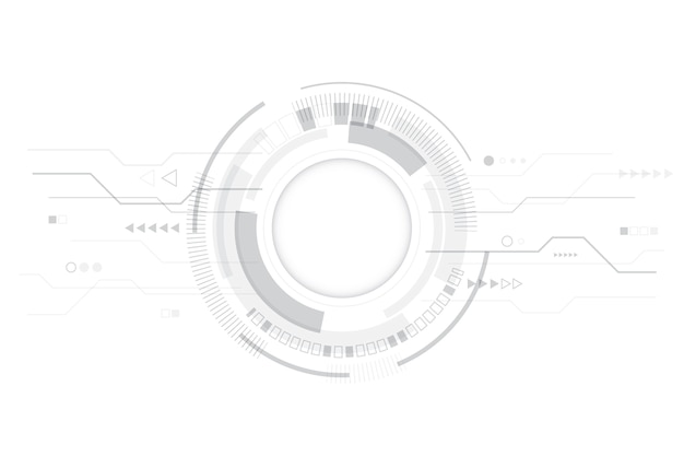 Carta da parati moderna tecnologia bianca