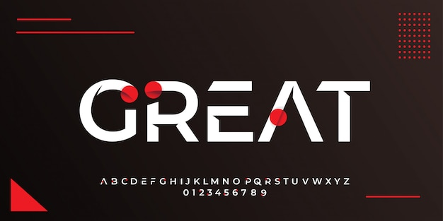 Modern white text style with abstract red circle design templates