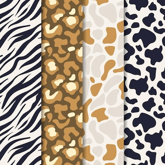 Modern wildlife fur pattern template